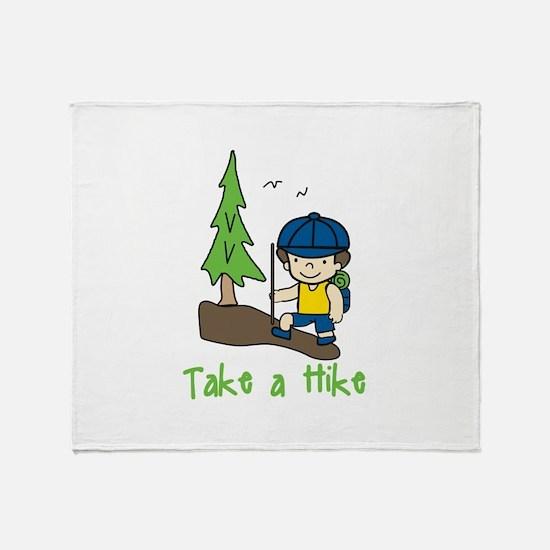 Take a Hike Throw Blanket