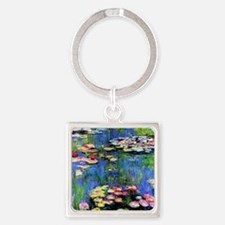 MONET WATERLILLIES Square Keychain