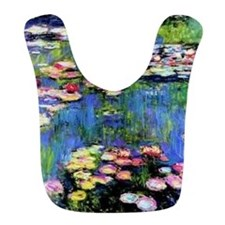 MONET WATERLILLIES Bib