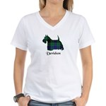 Terrier - Davidson Women's V-Neck T-Shirt