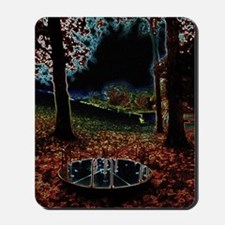 Merry Go Round with Trees Mousepad