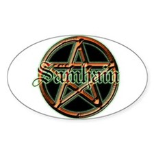 """Samhain Pentacle"" Oval Decal"