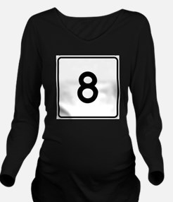 Unique The numbers Long Sleeve Maternity T-Shirt