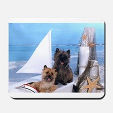 Cairn Terrier Boat Boys Mousepad