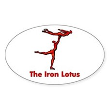 The Iron Lotus Oval Decal
