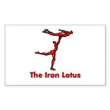 The Iron Lotus Rectangle Decal