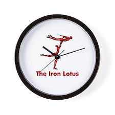 The Iron Lotus Wall Clock