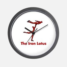 The Iron Lotus Wall Clock