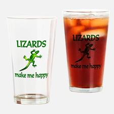 Lizard Happy Drinking Glass