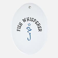 Fish Whisperer Ornament (Oval)