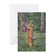 Decaying Fire Hydrant Greeting Card