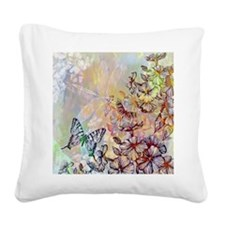 Cute Butterfly Square Canvas Pillow