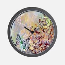 Unique Butterfly floral Wall Clock