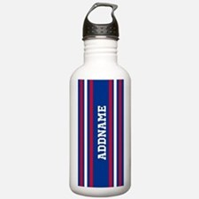 Red White Blue Sports Water Bottle