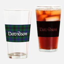 Tartan - Davidson Drinking Glass