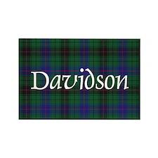 Tartan - Davidson Rectangle Magnet