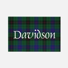 Tartan - Davidson Rectangle Magnet