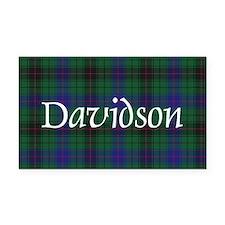 Tartan - Davidson Rectangle Car Magnet