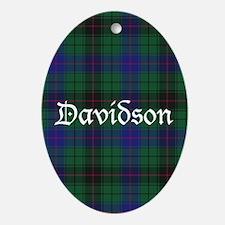 Tartan - Davidson Ornament (Oval)