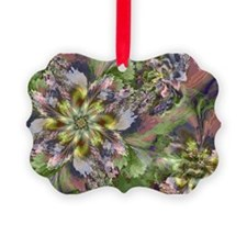 Fractal Wildflowers Ornament
