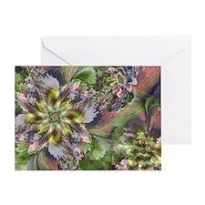 Fractal Wildflowers Greeting Card