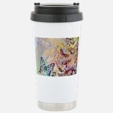 Funny Yellow butterfly Travel Mug