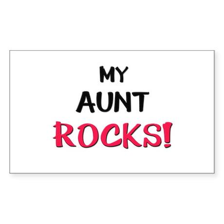 My AUNT ROCKS! Rectangle Sticker