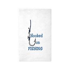 Hooked on Fishing 3'x5' Area Rug