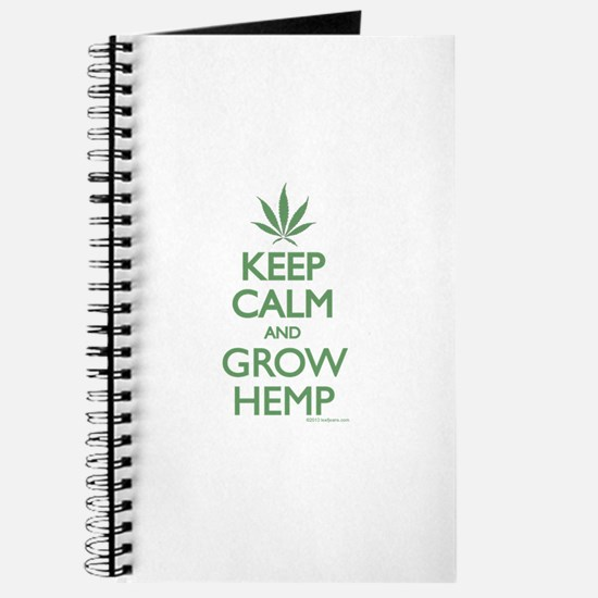 Keep Calm and Grow Hemp - Green Journal