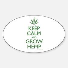 Keep Calm and Grow Hemp - Green Decal