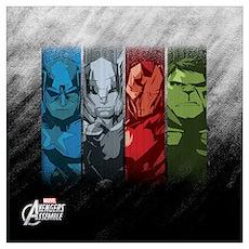 Four Avengers Wall Art Poster