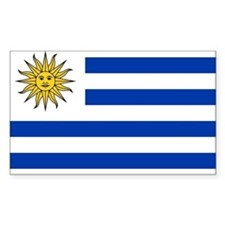 Uruguay Flag Rectangle Decal