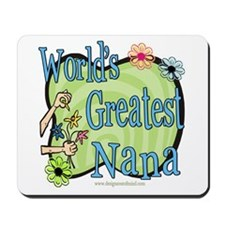 Greatest Nana Floral Mousepad