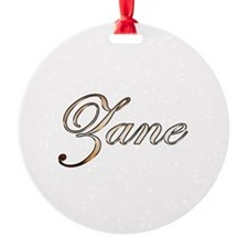 Gold Zane Ornament