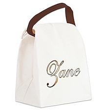 Gold Zane Canvas Lunch Bag