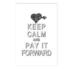 Keep Calm and Pay It Forw Postcards (Package of 8)
