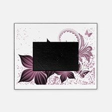Purple flowers and butterfly Picture Frame