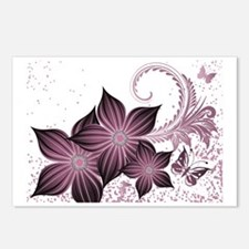 Purple flowers and butter Postcards (Package of 8)