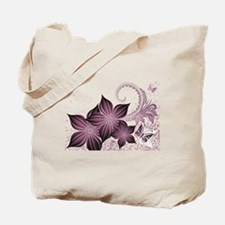 Purple flowers and butterfly Tote Bag