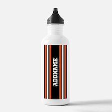 Custom Orange Black Wh Water Bottle