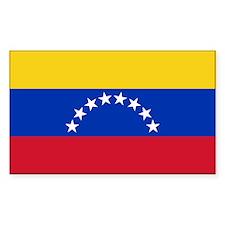 Venezuela Flag Rectangle Decal