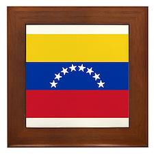 Venezuela Flag Framed Tile