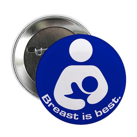 "Breastfeeding: Breast Is Best 2.25"" Button (100 pa"