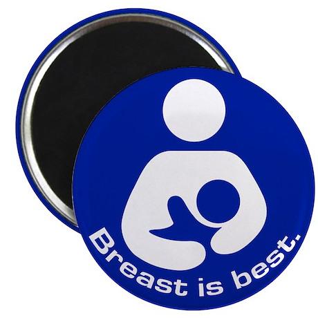 """Breastfeeding: Breast Is Best 2.25"""" Magnet (10 pac"""
