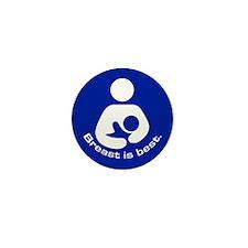 Breastfeeding: Breast Is Best Mini Button (100 pac