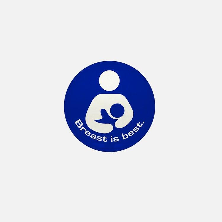Breastfeeding: Breast Is Best Mini Button