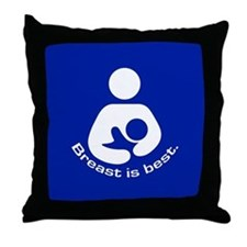 Breastfeeding: Breast Is Best Throw Pillow