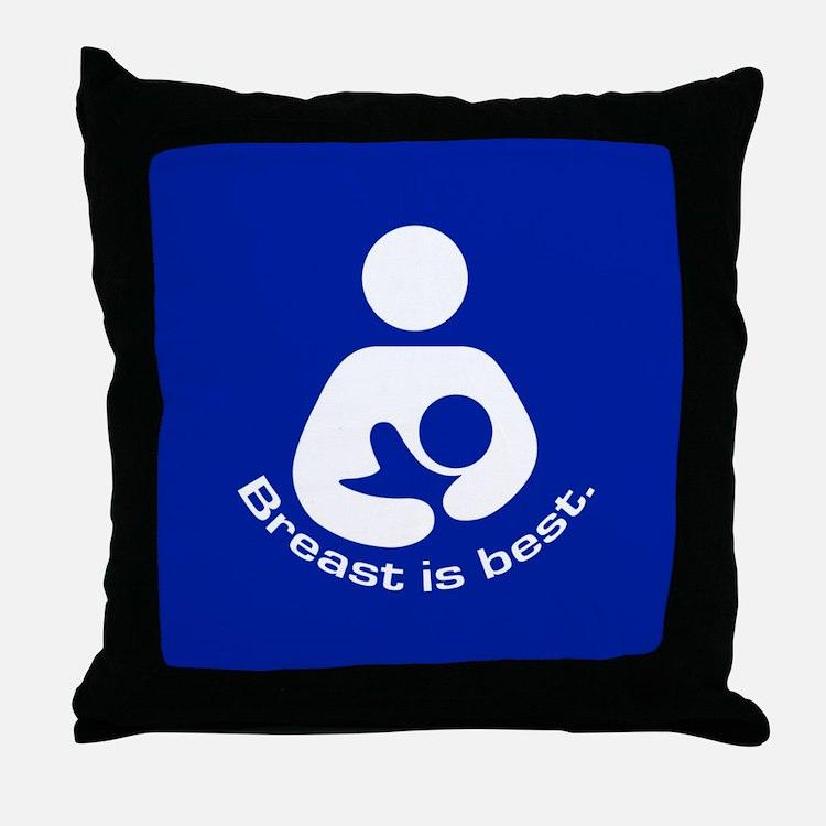Breastfeeding: Breast Is Best Throw Pillow