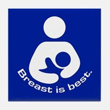 Breastfeeding: Breast Is Best Tile Coaster
