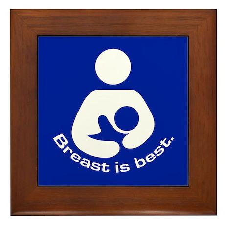 Breastfeeding: Breast Is Best Framed Tile